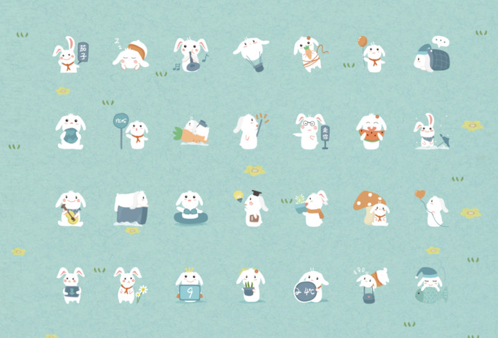 萌呆小兔兔